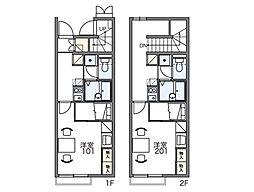 レオパレスマロンハイツ4[1階]の間取り