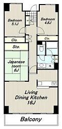 東京都多摩市関戸1丁目の賃貸マンションの間取り