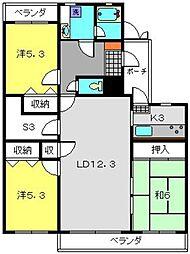 東白楽マンション[202号室]の間取り