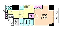 レジュールアッシュ梅田AXIA[11階]の間取り