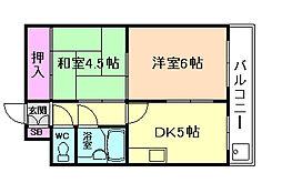 ブリリアンマンション[9階]の間取り