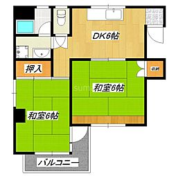 東十条藤巻ビル[2階]の間取り