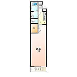 JR東海道・山陽本線 立花駅 徒歩12分の賃貸アパート 3階1Kの間取り