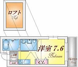 ヴィアノ須磨コルティーレ[1階]の間取り