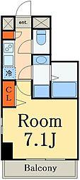 JR総武本線 市川駅 徒歩7分の賃貸マンション 5階1Kの間取り