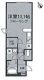 小田急小田原線 代々木八幡駅 徒歩5分の賃貸アパート 1階ワンルームの間取り