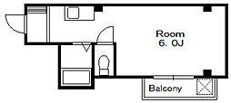 バルコス本八幡[2階]の間取り