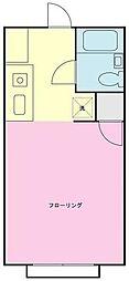 神奈川県横浜市南区白妙町3丁目の賃貸アパートの間取り