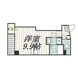 千葉県千葉市中央区新宿2丁目の賃貸マンションの間取り