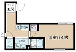 東京メトロ丸ノ内線 中野坂上駅 徒歩5分の賃貸マンション 1階1Kの間取り