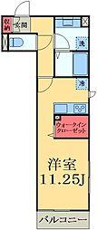 千葉県市原市姉崎の賃貸アパートの間取り