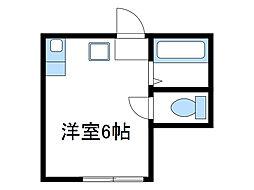 神奈川県座間市相模が丘2丁目の賃貸アパートの間取り