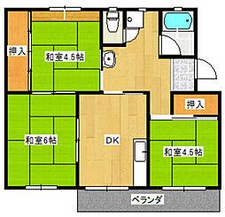 長住団地10棟[306号室]の間取り