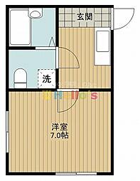 東京都日野市日野本町3丁目の賃貸アパートの間取り