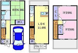 [テラスハウス] 大阪府堺市南区深阪南 の賃貸【/】の間取り
