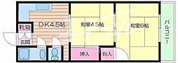 大阪府大阪市浪速区日本橋東1丁目の賃貸マンションの間取り
