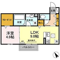 レガーロ 2階1LDKの間取り