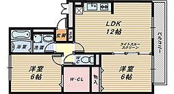 フラワーメゾン A・B棟[2階]の間取り