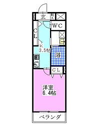 ベルクフェルト[5階]の間取り