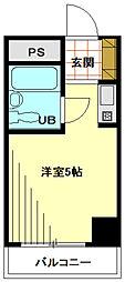 東京都港区麻布十番3丁目の賃貸マンションの間取り