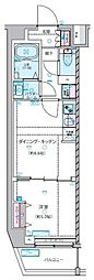 GENOVIA 練馬春日町 skygarden 4階1DKの間取り