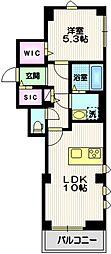 ヴェルデブレッツア等々力 3階1LDKの間取り