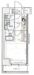 京急本線 神奈川駅 徒歩9分の賃貸マンション 4階1Kの間取り
