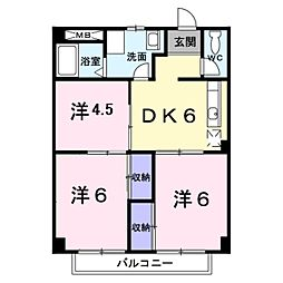 神奈川県横浜市都筑区佐江戸町の賃貸アパートの間取り