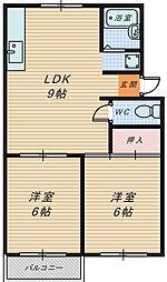 メゾン泉ヶ丘[2階]の間取り