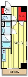 LEXE東京NorthII 3階ワンルームの間取り