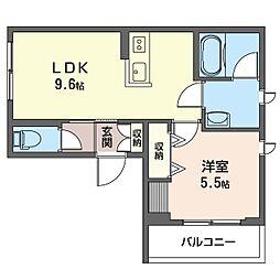 グランメゾン 神楽坂 4階1LDKの間取り
