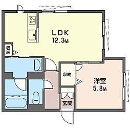 仮)青葉区新石川3丁目シャーメゾン[1階]の間取り