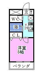 津賀マンション[301号室]の間取り