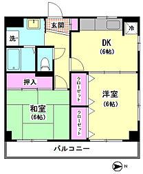 鳴島ビル[401号室]の間取り