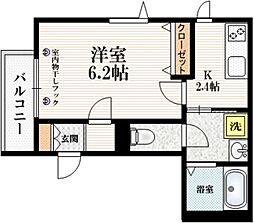 (仮称)東十条3丁目メゾン 2階1Kの間取り