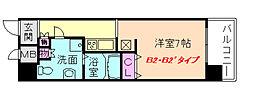 フェアステージ塚本[2階]の間取り