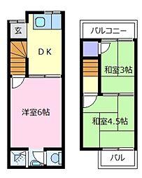 [一戸建] 大阪府松原市天美南2丁目 の賃貸【/】の間取り