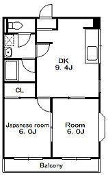 サンワイド[1階]の間取り