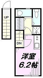 埼玉県所沢市旭町の賃貸アパートの間取り