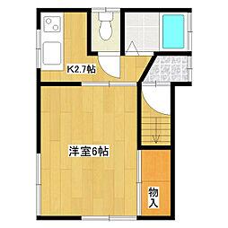 コーポアダチ[2階]の間取り