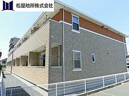 愛知県豊橋市下地町字北村の賃貸アパートの外観