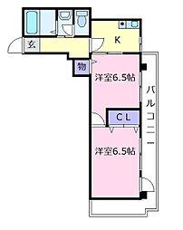 スターパレス[2階]の間取り