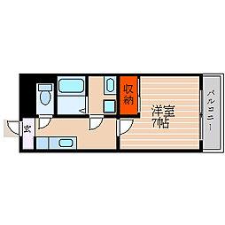 滋賀県彦根市平田町の賃貸マンションの間取り