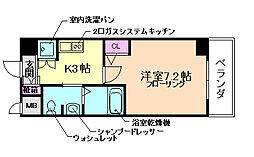 エヴァステージ梅田WEST[7階]の間取り