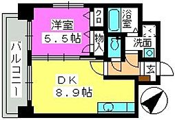 コンフォール博多駅南[701号室]の間取り