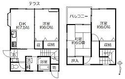 [テラスハウス] 千葉県千葉市花見川区さつきが丘2丁目 の賃貸【/】の間取り