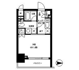 Park Cube 神田 〜パークキューブ神田〜[5階]の間取り