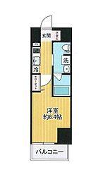 SHOKEN Residence横浜戸部 10階1Kの間取り