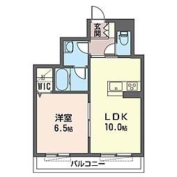 都筑区仲町台4丁目シャーメゾン (仮) 1階1LDKの間取り