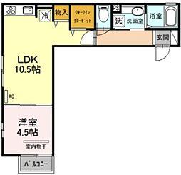olen kotona 3階1LDKの間取り